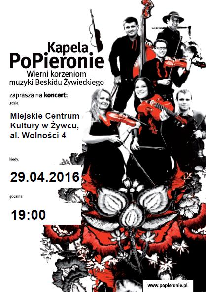 Kapela PoPieronie_plakat